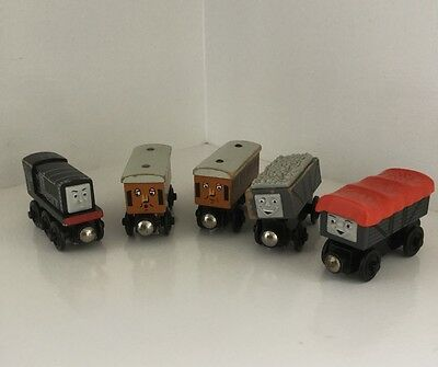 Thomas the Tank Engine wooden railway - MIXED BUNDLE OF 5 incl GIGGLING TRUCK