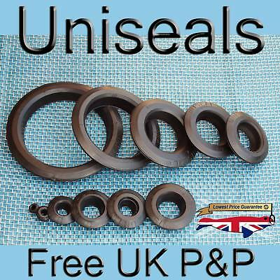Uniseals from 99p All Sizes, Single and Multipacks, Koi bulkhead tank connectors