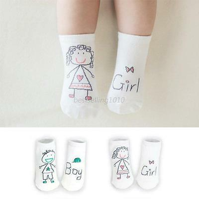 Newborn Kids Toddler Baby Boys Girls Socks Non-Slip Cartoon Cotton Socks 0-3Year
