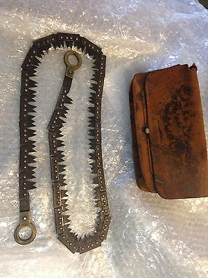 Hand Operated Chainsaw Marked FRANCIS WOOD &SON SHEFFIELD 1917 Military