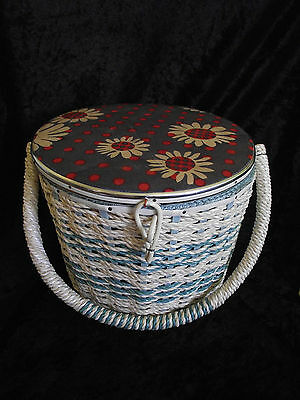 Beautiful Retro Vintage Sewing Basket