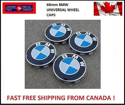 For BMW 4 White/ Blue Emblem Logo Hub Wheel Rim Center Cap 68mm E46,E90 M E60