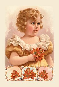 Winter Child - 16X24 Giclee Fine Art Print Framed In Gold (20X30 Finished)