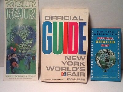Vintage Worlds Fair Guide Book, Brochure and Map. New York, 1964/1965.