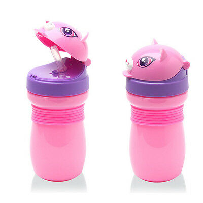 Baby Kids Children Sports Feeding Drinking Water Straw Bottle Sippy Suction Cup
