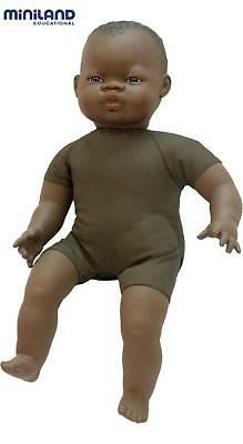 Soft Bodied Doll With Articulated Head (African) - Miniland