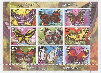 Butterfly Insect Somalia 2000 Mnh Stamp Sheetlet