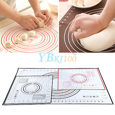 New Silicone Muffin Dough Pastry Fondant Rolling Cutting Pad Baking Liner Mat