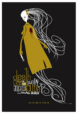 Scrojo Death Cab for Cutie Matt Costa 2009 Poster Belly Up Tavern DeathCab_0907