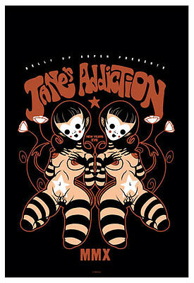 Scrojo Jane's Addiction New Year's Eve 2009-10 Poster Belly Up Aspen Jane_0912