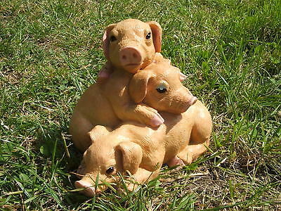 Latex Mould/moulds/mold. Pile Og Naughty Pigs Garden Ornament