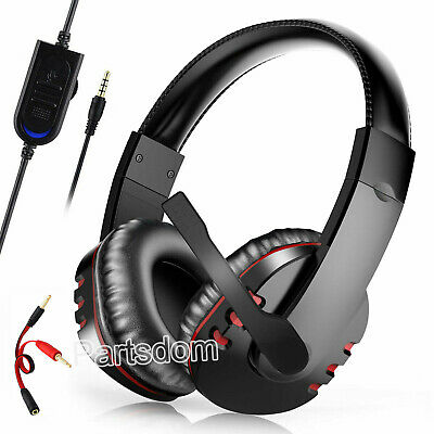 Pro Gamer Mic Headset Stereo Bass Surround Headphone For PS4/Xbox One/PC/Laptop