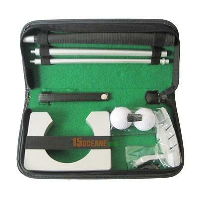 Portable Indoor Golf Putting Practice Kit Ball Putter Travel Training