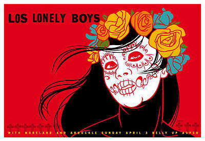 Scrojo Los Lonely Boys Moreland and Arbuckle Belly Up Aspen Poster Lonely_1104