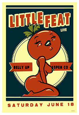 Scrojo Little Feat Belly Up Aspen Colorado 2011 Poster Little_1106