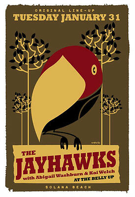 Scrojo Jayhawks Abigail Washburn Kai Welch Belly Up Tavern Poster Jayhawks_1201