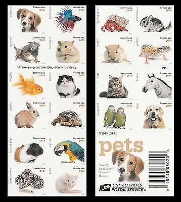 US 5125a Pets forever booklet 20 MNH 2016