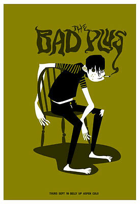 Scrojo The Bad Plus Belly Up Aspen Colorado 2013 Poster BadPlus2_0909