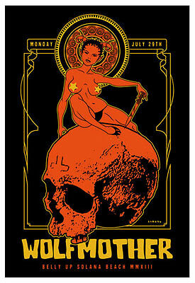 Scrojo Wolfmother Belly Up Tavern Solana Beach 2013 Poster Wolfmother_1307