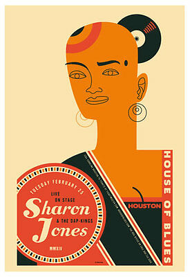 Scrojo Sharon Jones and the Dap-Kings House of Blues Houston Poster Jones_1402