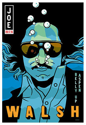 Joe Walsh at The Belly Up Aspen Poster by Scrojo Walsh_1609 Eagles