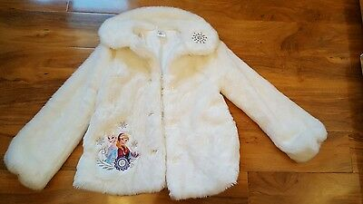 Girls Disney Frozen faux fur coat, stunning! Size 9/10yrs, Immaculate!