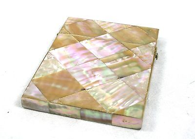 Antique Edwardian Mother of Pearl Calling Business Card Case