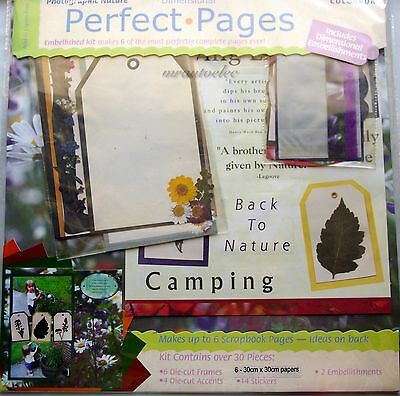 Colorbok Perfect Pages 12x12 Paper Scrapbook Kit  Photographic Nature Camping