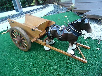 vintage horse and cart -- miniatures