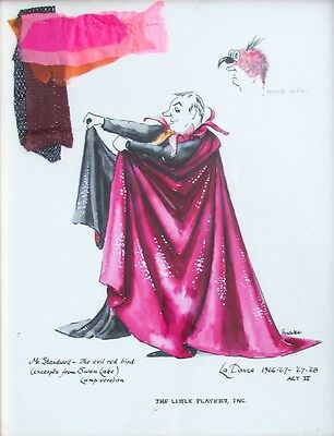 Vintage Costume Design by Frank Peschka The Little Players Puppet Theater, NYC
