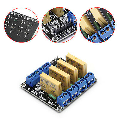 4 Channel SSR Solid State Relay High-low Trigger 3-32V 5A For Arduino Uno R3 New