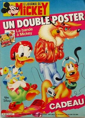 Le journal de Mickey n°1791 du 21 octobre 1986 - Double poster La bande à Mickey