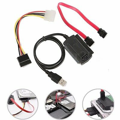 SATA / IDE to USB 2.0 Adapter Converter Cable for 2.5 & 3.5 Inch Hard Drive