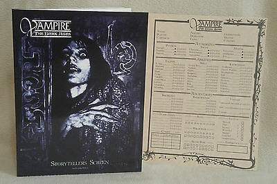 ***25% OFF***Vampire the Dark Ages Storyteller Screen White Wolf w/Add Pages Pad