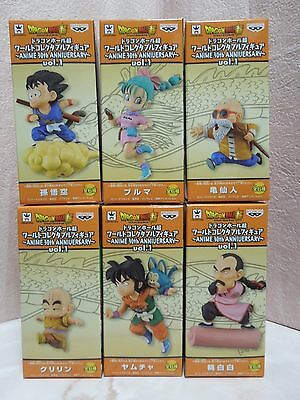NEW Dragon Ball Super WCF World Collectable Figure 30th Anniversary Ver Full Set