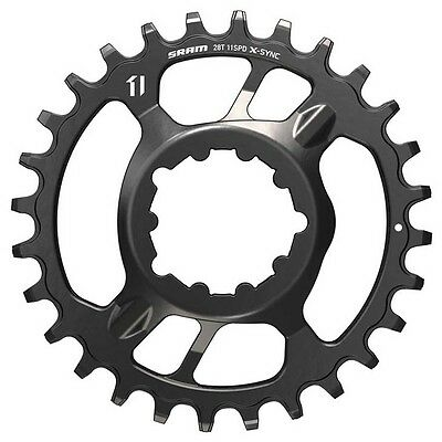 Sram Chain Ring X-sync Steel 28t Direct Mount 6mm Offset Steel 3.5mm Black 11 S