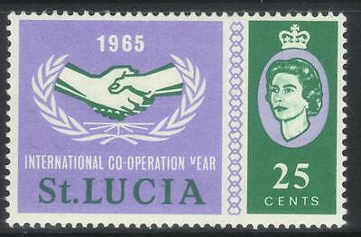 St Lucia 1965 I.c.y Sg215 M/m Unlisted Flaw
