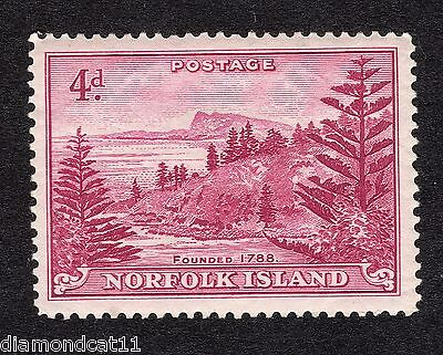 1947 Norfolk Island 4d Red SG 7 Mounted Mint R16377