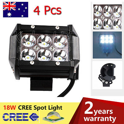 4X18W CREE LED Work Light Offroad Spot Beam Moto Car Boat Lamp 4x4WD auction