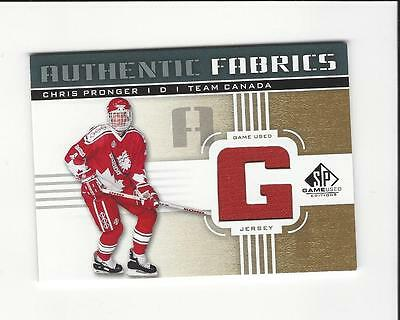 2011-12 SP Game Used Authentic Fabrics Gold #AFPG2 Chris Pronger G C