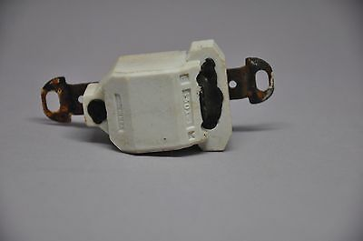 3 VINTAGE PORCELAIN Mid-Century Wall Toggle Switch Flush Mount Light Switch