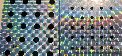 Holographic flat self adhesive eyes 6mm & 10mm for lures and flies