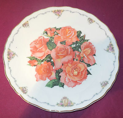 COLLECTABLE PLATE ROYAL ALBERT - ELIZABETH of GLAMIS - QUEEN MOTHER FLOWERS 1990