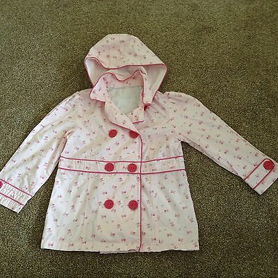 Girls Pink Floral Coat Age 6? • EUR 3,84