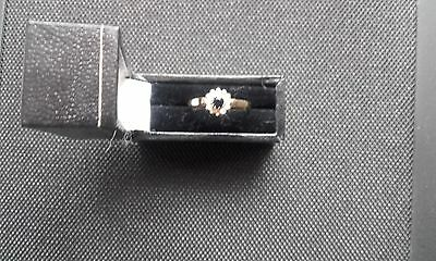 9ct gold Diamond and Sapphire Ring