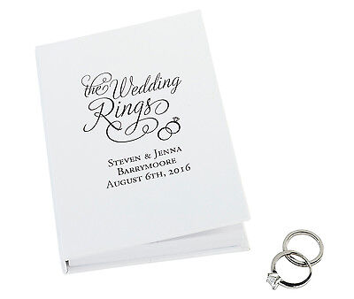 "Personalized Alternative Ring Pillow ""the Wedding Rings"" Book By Lillian Rose"