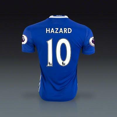FC Chelsea Home Jersey HAZARD 10 Soccer in XL size