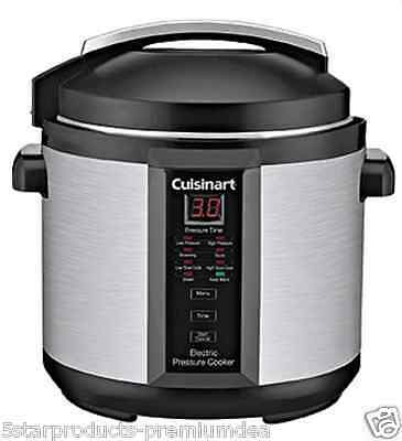 New Cuisinart Electric Pressure Cooker 6L Litre Stainless Steel Kitchen Nonstick