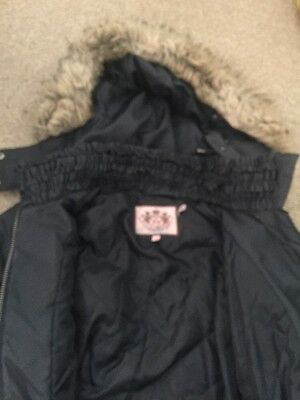 Girls  Grey Juicy Couture Winter Coat. Age 10-12