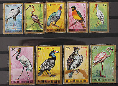 Burundi 1964 Birds Air Set MNH SG142-150 9v